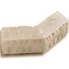 Chiseled Edge Wainscot Sill Tan (Buckskin) 135 degree corner Eldorado stone accent