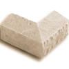 Chiseled Edge Wainscot Sill Tan (Buckskin) 90 degree corner Eldorado stone accent