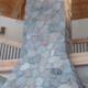 Round Plum River natural thin stone