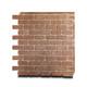 Panel Weathered Brick Bold Rouge Dusted Nu-Wood mortarless thin brick