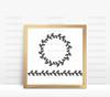 Laurel Wreath & Border Digital Cutting File (#1)