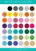Matte Vinyl Color Chart