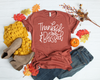 Thankful & Blessed | Screen Print Transfer