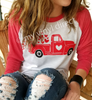 Red Truck & Hearts HEAT PRESS TRANSFER