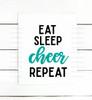 Eat Sleep Cheer Repeat Digital Cutting File