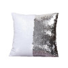 Sequin Mermaid Pillow Cover in White/Silver Combo