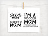 Soccer Mom 3 Pack Digital Cutting Files
