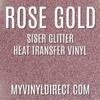 Siser Glitter HTV Rose Gold