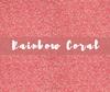 Siser GLITTER Heat Transfer Vinyl Sheet Rainbow Coral