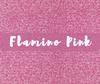 Siser GLITTER Heat Transfer Vinyl Sheet Flamingo Pink
