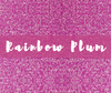 Siser GLITTER Heat Transfer Vinyl Sheet Rainbow Plum