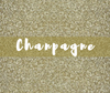 Siser GLITTER Heat Transfer Vinyl Sheet Champagne