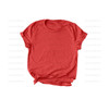 Unisex Jersey Short Sleeve Tee: Heather Red
