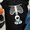 Mama Skeleton & Baby Boy HEAT PRESS TRANSFER