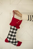 White Plaid with Buttons Stocking