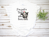 I'm Just a Girl Who Loves Cows   Sublimation Transfer