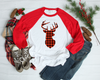 Red and Black Plaid Buck | Sublimation Transfer
