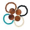 Wood Bead & Wood Disc Bracelet