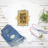 Happy New Year Gold Glitter | Sublimation Transfer