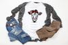 Cow Buffalo Plaid Headwrap | Sublimation Transfer
