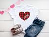 Love Heart Buffalo Check | Cotton Transfer