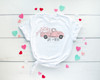 Polka Dot Truck with Pink Hearts | Cotton Transfer