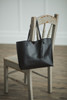 Tassel Leather Tote Black