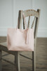 Tassel Leather Tote Blush
