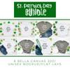 St. Patrick's Day Tee BUNDLE 9 Bella Canvas 3001 Unisex Mock Up/Flat Lays DIGITAL FILES