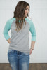 Tri-Blend Baseball Raglan Mint/Oxford