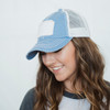 Patch Distressed Hat Blue