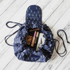 Makeup Drawstring Travel Pouch Feather