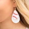 Baseball & Softball Glitter Earrings