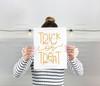 Handwritten Trick Or Treat Digital Cutting File