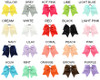 Colors of Cheer Bows *please note colors may vary by monitor. Please choose by color name.