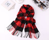 Buffalo Check Monogram Friendly Scarf Red