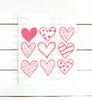 Nine Hearts Digital Cutting File