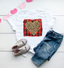Red Buffalo Check Leopard Heart | Sublimation Transfer