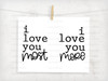 I Love you Most and I Love You More Digital Cutting File