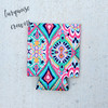 Summer Print Neoprene Can Covers | Turquoise Crowns