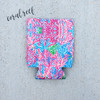 Summer Print Neoprene Can Covers | Coral Reef