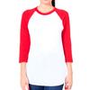 Red/White Cotton Poly Raglan Shirt