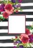 Floral Stripe Garden Flag