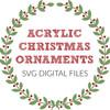 Acrylic Christmas Ornament Digital Files