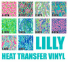 Lilly Heat Transfer Vinyl Choices