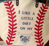 Baseball Tote personalized with our Glitter Heat Transfer Vinyl and our Easyweed Heat Transfer Vinyl