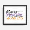 Wicked Witch & Monkeys Digital File