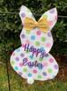 Bunny Garden Flag | Polka Dots