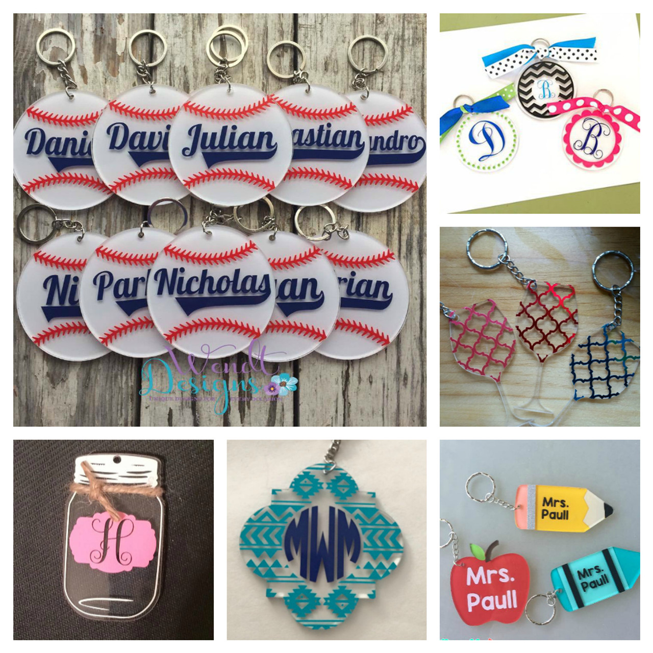 I Love My Girlfriend Plastic Oval Key Ring Colour Choice New
