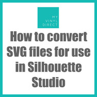 How to Convert SVG files for use in Silhouette Studio